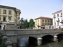 Il Lambro e il Ponte dei Leoni a Monza