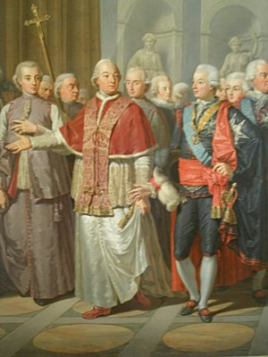 Nationella dräkten - Gustav III wears the National Costume when meeting the Pope in Rome.
