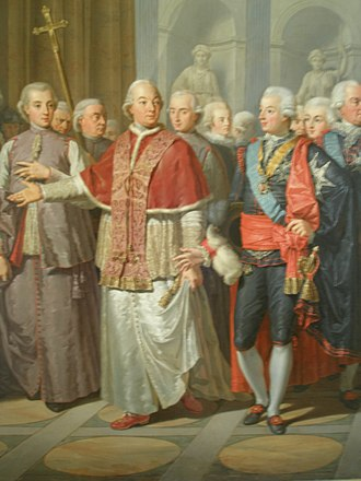 Gustav III of Sweden - Pope Pius VI and Gustav III