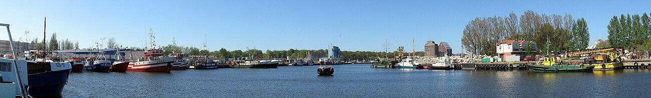 Panorama południowego basenu portowego