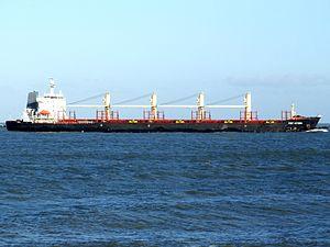 Port Victoria - IMO 9262637 - Callsign V7NZ3 approaching Port of Rotterdam, Holland 14-Jan-2007 photo-2.jpg
