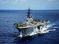 Port bow view of USS Iwo Jima (LPH-2) 1979.jpg