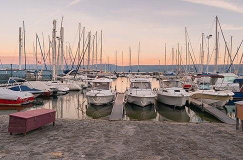Port de Rives in Thonon-les-Bains, Haute-Savoie, France