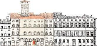Palazzo Bartolini-Torrigiani - Facades along Via Porta Rossa