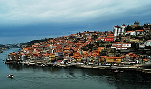 Portuguese wine center of Oporto along the Dou...