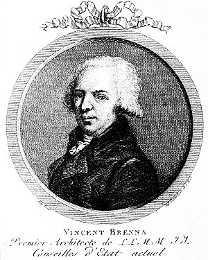 Vincenzo Brenna - Engraving by Cardelli, around 1800