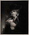 Portrait of a debt collector (?) thumbing through his papers Wellcome V0015846.jpg