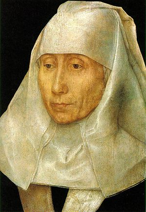 Portrait of an Elderly Woman - Portrait of an Old Woman, c 1480, 26.5 x 17.8cm (14.6 × 10.6in). Museum of Fine Arts, Houston
