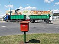 Post box, MAN TGA 460, trailer, Ceres Co., 2018 Győr.jpg