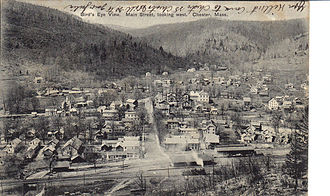 Chester, Massachusetts - Aerial view of the town in 1905