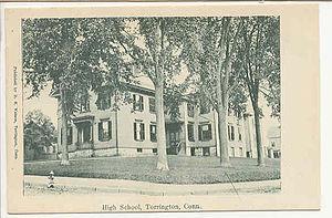 Torrington High School - Image: Postcard Torrington CT Hi School 1905