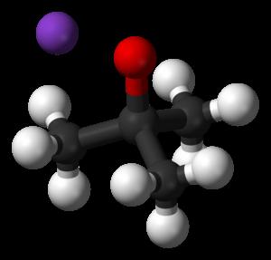 Potassium tert-butoxide - Image: Potassium tert butoxide 3D balls ionic