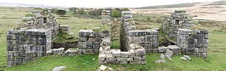 Industrial archaeology of Dartmoor - One of the incorporating mills at Powdermills