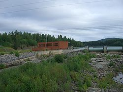 Hydroelectic power station in Arbrå.