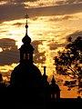 Praha, Bílá Hora, kostel, soumrak 01.jpg