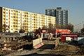 Praha, Vokovice, Červený Vrch, staveniště metra.jpg