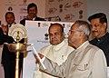 Pranab Mukherjee lighting the lamp to inaugurate the 7th Edition of India CHEM 2012, at Mumbai. The Governor of Maharashtra, Shri K. Sankaranarayanan and the Chief Minister of Maharashtra.jpg