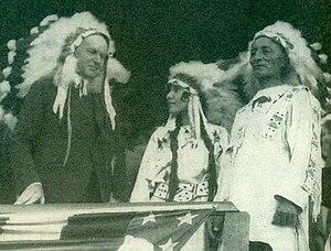 Chauncey Yellow Robe - President Calvin Coolidge, Chauncey and Rosebud Yellow Robe, 1927