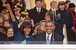 President and first lady cheer on performers at 57th Inaugural Parade 130121-Z-QU230-237.jpg