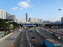 Prince Edward Road East (east end, blue sky).jpg
