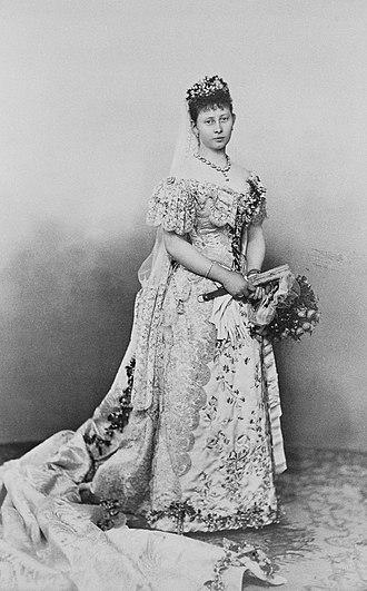 Princess Margaret of Prussia - Princess Margaret in her wedding dress