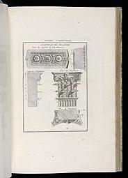 Иллюстрации коринфских пилястр из Германии, в Смитсоновском музее дизайна Купера Хьюитта