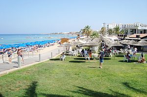 Protaras beach at Paralimni holiday destination in Republic of Cyprus 9.jpg