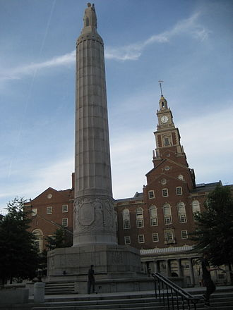 Providence County Courthouse - Image: Providence 20June 07WWIMonument