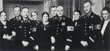 Heydrich and other SS officers with their wives in 1937 Pruchtnow and Himmler.jpg