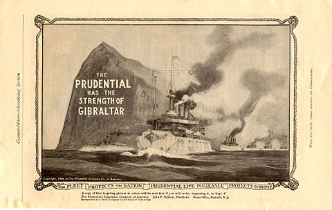 Old advert of the Prudential Insurance Co. of America (1909) Prudential advert 1909.jpg