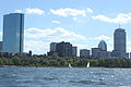 Prudential and Hancock from Charles River.JPG