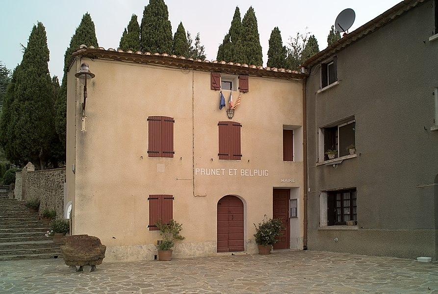 Mairie, Prunet-et-Belpuig (Pyrénées-Orientales, Languedoc-Roussillon, France)