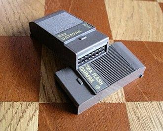 Psion Organiser - Memory modules for the Psion Organiser (on 5 cm squares)