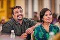 Pushkar-Gayathri at the Brew Person Of The Year Awards 2017.jpg