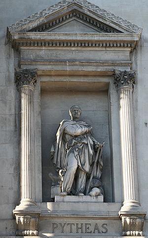 Pytheas - Statue of Pytheas outside the Palais de la Bourse, Marseilles.
