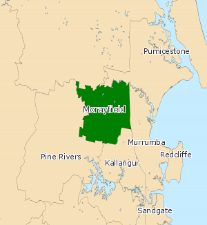 Electoral district of Morayfield - Electoral map of Morayfield