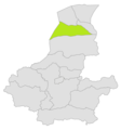 Qaramqol district location in map of Faryab province.png