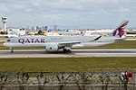 Qatar Airways, A7-ALW, Airbus A350-941 (31422776218).jpg
