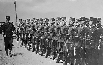 New Army - Qing soldiers of a New Army unit in 1905.