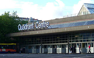 Swansea bus station - Part of old Quadrant bus station