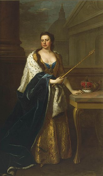 Jacobite line of succession to the English and Scottish thrones in 1714 - Queen Anne, the last monarch of the House of Stuart