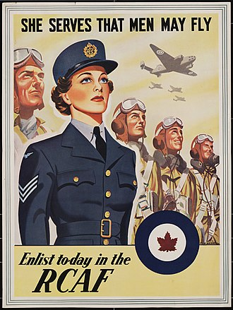 Canadian women in the World Wars - A 1941 Royal Canadian Air Force Women's Division recruiting poster
