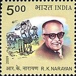 RK Narayan 2009 stamp of India.jpg