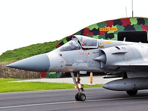 ROCAF Mirage 2000-5EI Pilot Opened Canopy and Waveing Hand on Runway 20120602