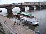 Rašínovo nábřeží a Palackého most, parník Vltava.jpg
