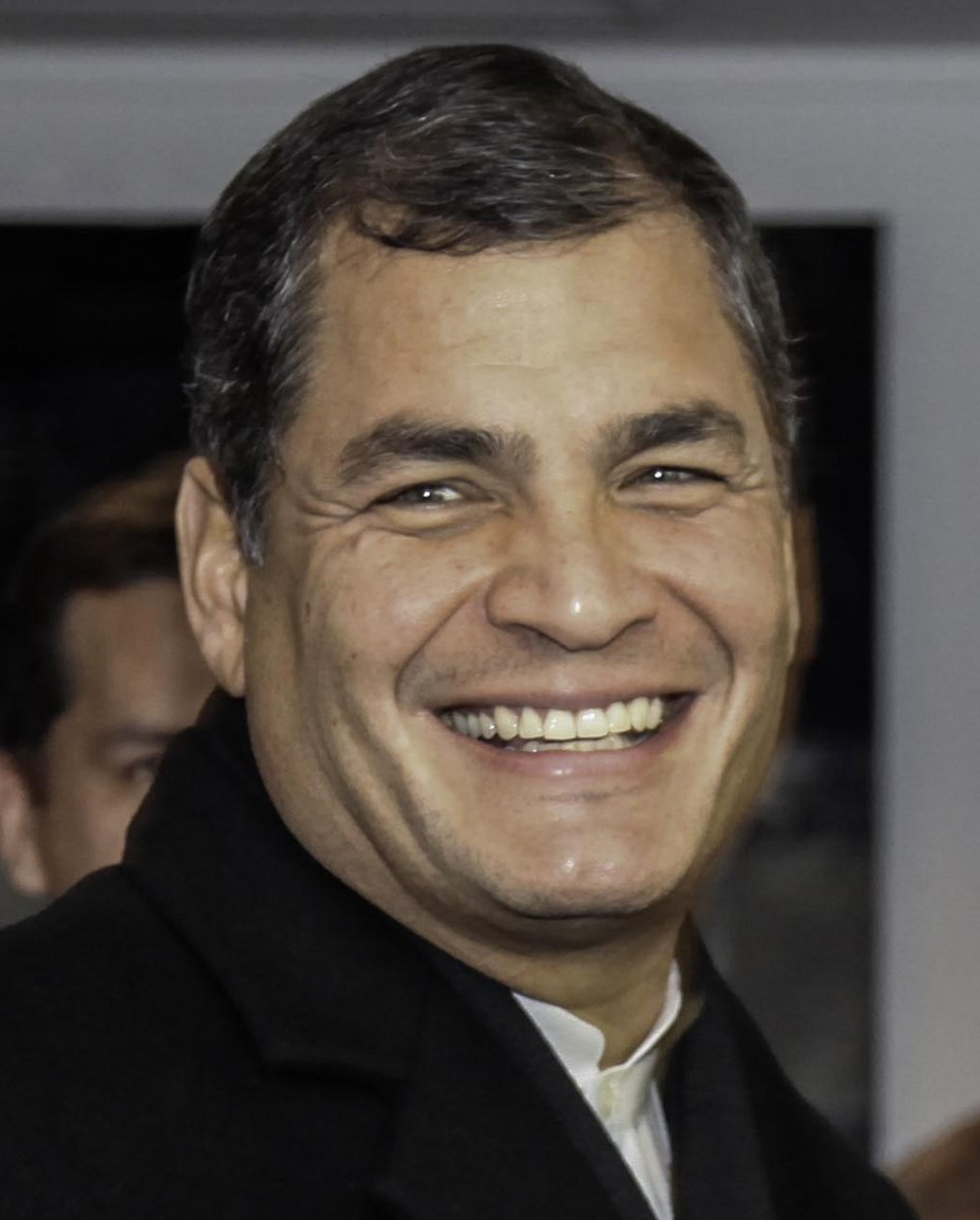 Rafael Correa in France (cropped)