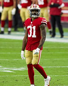 Dominique Raheem Mostert is an American football running back for the San Francisco 49ers of the National Football League . He played college football at Purdue.