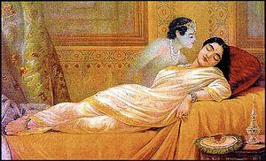 Aniruddha - Usha dreaming of Aniruddha