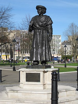 Ram Mohan Roy - Statue in College Green, Bristol, England