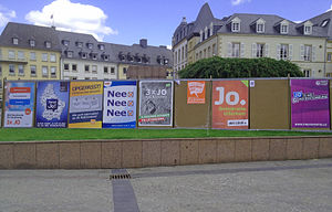 Luxembourg constitutional referendum, 2015 - Posters by the political parties about the referendum